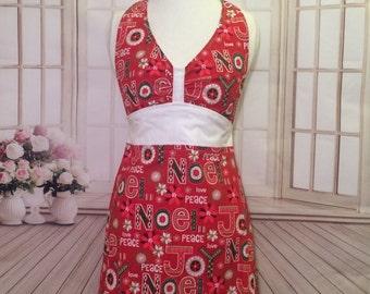 Women's apron, Christmas apron, Noel apron, Joy apron, Kitchen apron, cute apron, flirty apron, AmorysAprons