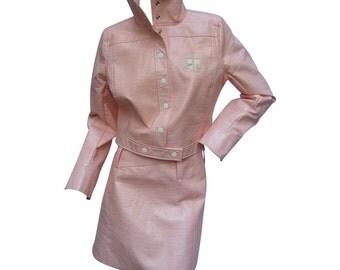 Iconic Courreges  Paris Candy Pink Vinyl Suit. EU 40.