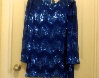 Formal Top Blue Sequin