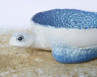 Turtle bowl, turtle, bowl, ceramic bowl, ceramic turtle, sea food, salad bowl,  white bowl,