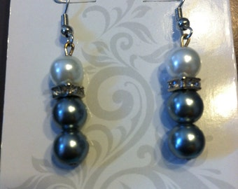 Glitzy Bead and Crystal Earrings