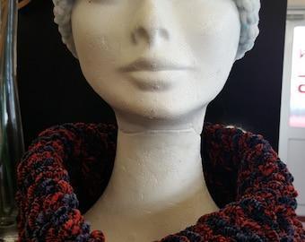 Crochet snood scarf