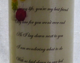6 Inch - Birthday, Valentine's Day Gift Personalised Proposal Candle Marriage Proposal Design 2