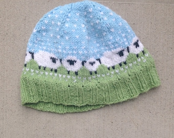 Sheep on a Pasture Knit Hat