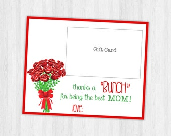 Gifts for Mom, Mothers day gift, Gift Card Printable, Gifts for her, gift for women