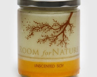 Unscented Soy Candle + Thermal Wrap Label