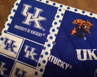 University of Kentucky mug rug, snack mat