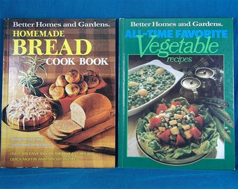 Better Homes and Gardens Bread Cookbook Vegetable Recipes  Vintage Kitchen Books