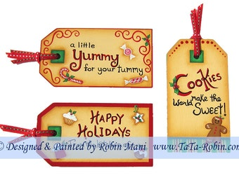 290 Baking Gift Tags Decorative Painting Pattern