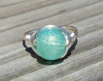 Sparking Waters Wire Ring