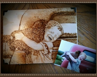 Pyrography Portraits on Memory Boxes