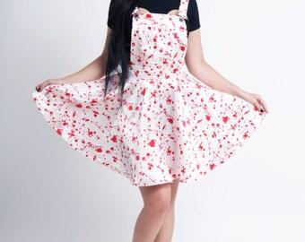 LAST ONE - Bloodsplatter Overalls Dress