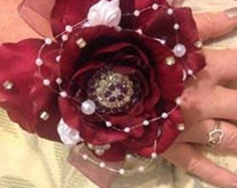Wrist Corsage (Red)