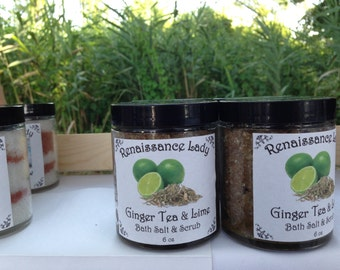 Ginger Tea and Lime Bath Salt & Scrub