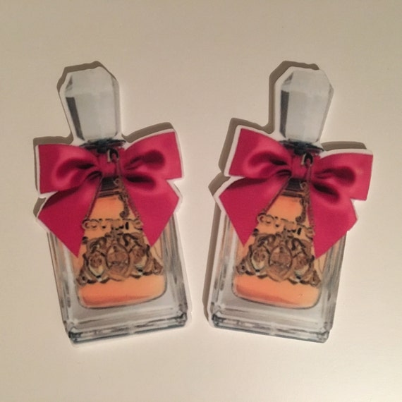 Reduced 2 Perfume Bottle Couture Pink Planar Resin. Flatback cabochon hairbow centre embellishments laser cut shrinky dink topper Brooch diy