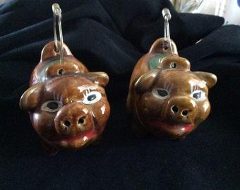 Vintage Smiling Porkers salt pepper set