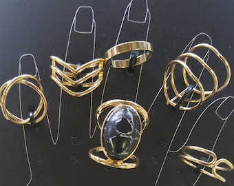 6 Piece Ring and Midi Ring Set