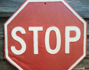 Vintage Steel Stop Sign