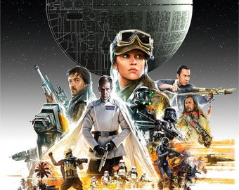 A Star Wars Story Rogue One Poster Print