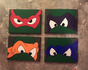 Tmnt canvas paintings. Set of 4.