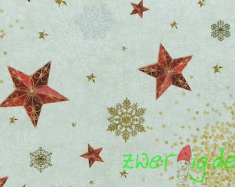 Solid cotton winter / Christmas with the stars