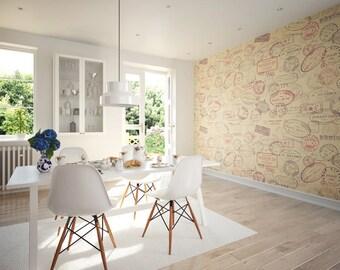 Photo Wallpaper Wall Mural for Living Room Decor, Bedroom Decor, Office or Dining Room, Kitchen Decor - Par Avion Wall art Large