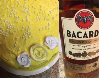Pina Colada Cake w/Buttercream Icing