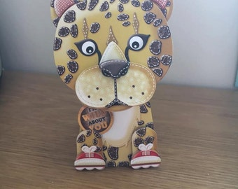 3D Cheetah Box Pop Card