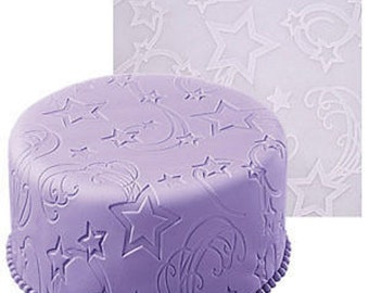 Big mat embossed Silicone Theme 'Star Power' sugar & almond dough 50 x 50