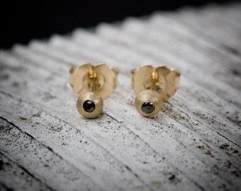 black diamond orbit earrings