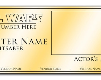 Custom Signature Lightsaber Display Plaque