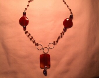 Carnelian & Amethyst Necklace