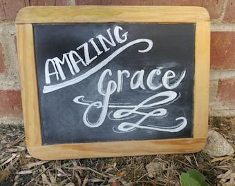 Be Still/Amazing Grace Vintage Slate Chalkboard