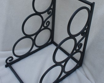 Three bottle metal wine rack