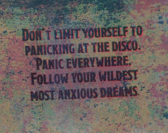 Panic At The Disco Etsy