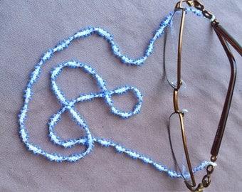 Blue and white glasses chain
