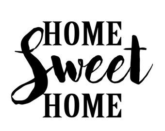 Home sweet home printable black