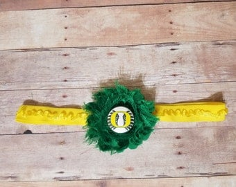 university of Oregon headband-Oregon headband-oregon ducks for girl-Ducks headband-Oregon ducks baby gift/oregon for girl/ducks for girl