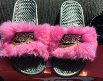 Nike Single Strap Fur Slides