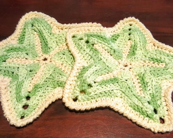 Starfish Potholders/Dishcloths/Coasters (Spring Meadow)
