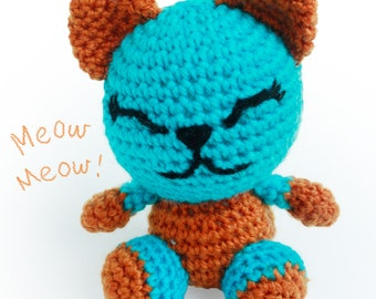 Crochet Amigurumi Cat - Amigurumi Cat - Crochet Cat - Cat Doll - Amigurumi Animals - Crochet Animal - Soft toy - Handmade Cat - Toy