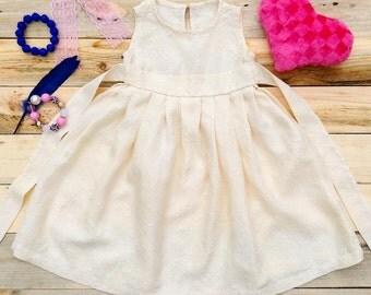 Beige dress for a little Princess