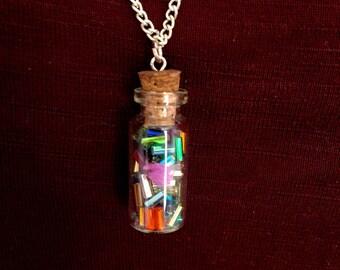 Bottle Full of Sprinkles Necklace