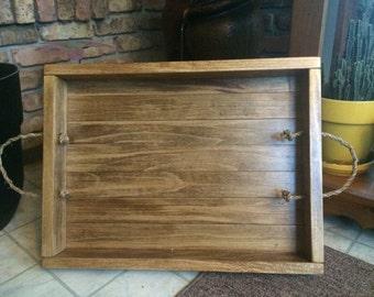 Rustic Wooden Breakfast Tray