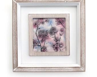 Cherry Blossom framed illustration