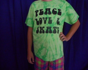 Lime Green Tie Dye Skater T-Shirt