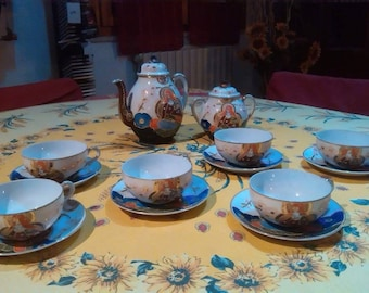 Ancient Japanese tea service of the