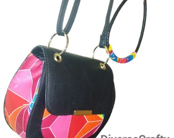 African Ankara Purse And Necklace set