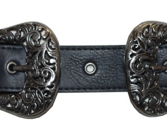Double Buckle Belt in Silver