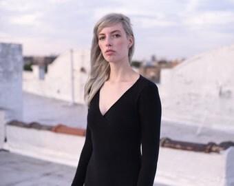 Bodycon Black Wrap Dress